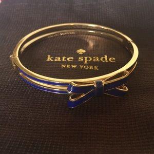 Kate Spade Navy & Gold Bow Bangle